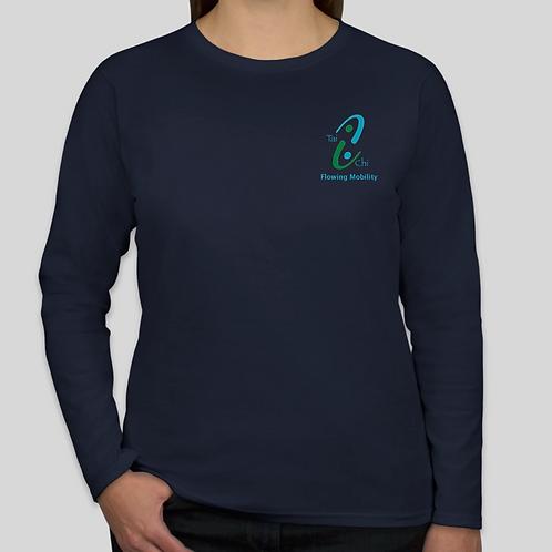 Ladies Cut T-Shirt 100% Cotton Navy