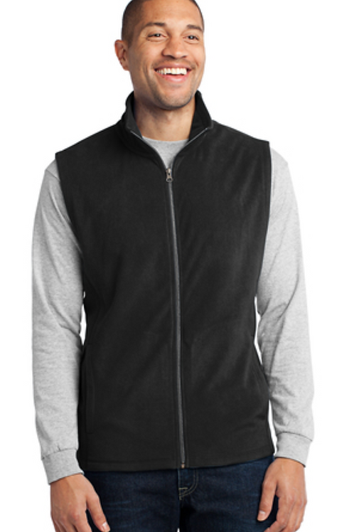 MEN's Light Weight Fleece VEST with embroidered Logo