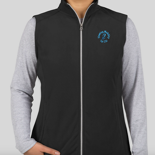 Ladies Light Weight Fleece VEST with embroidered Logo