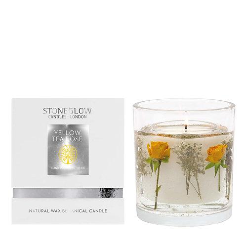 Yellow Tea Rose Wax Gel Candle