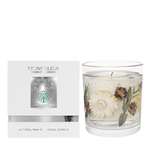 Amber Woods & Blossom Wax Gel Candle