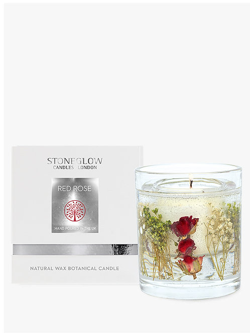 Red Rose Natural Wax Gel Candle