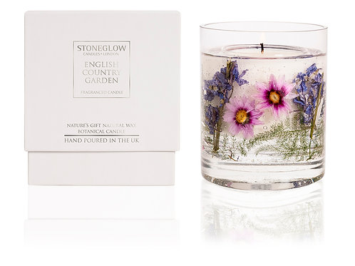 English Country Garden Gel Vase Candle
