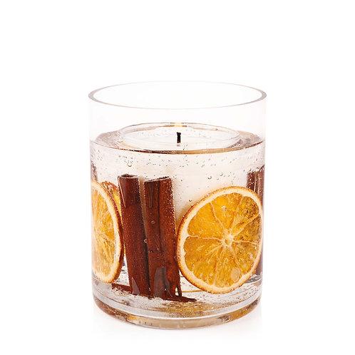 Cinnamon And Orange Natural Wax Gel Vase