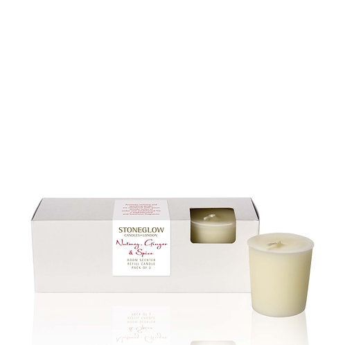 Nutmeg & Ginger Refill Candles ( Pack of 3)