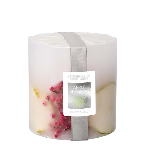 Apple Blossom Pillar Candle