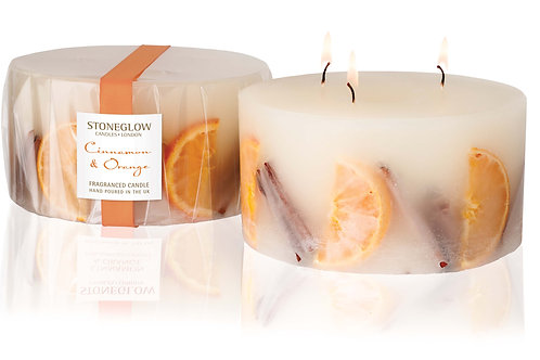 Cinnamon & Orange 3-Wick Pillar