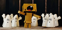 Canva - Danbo Figure Sorrounded by Ghost