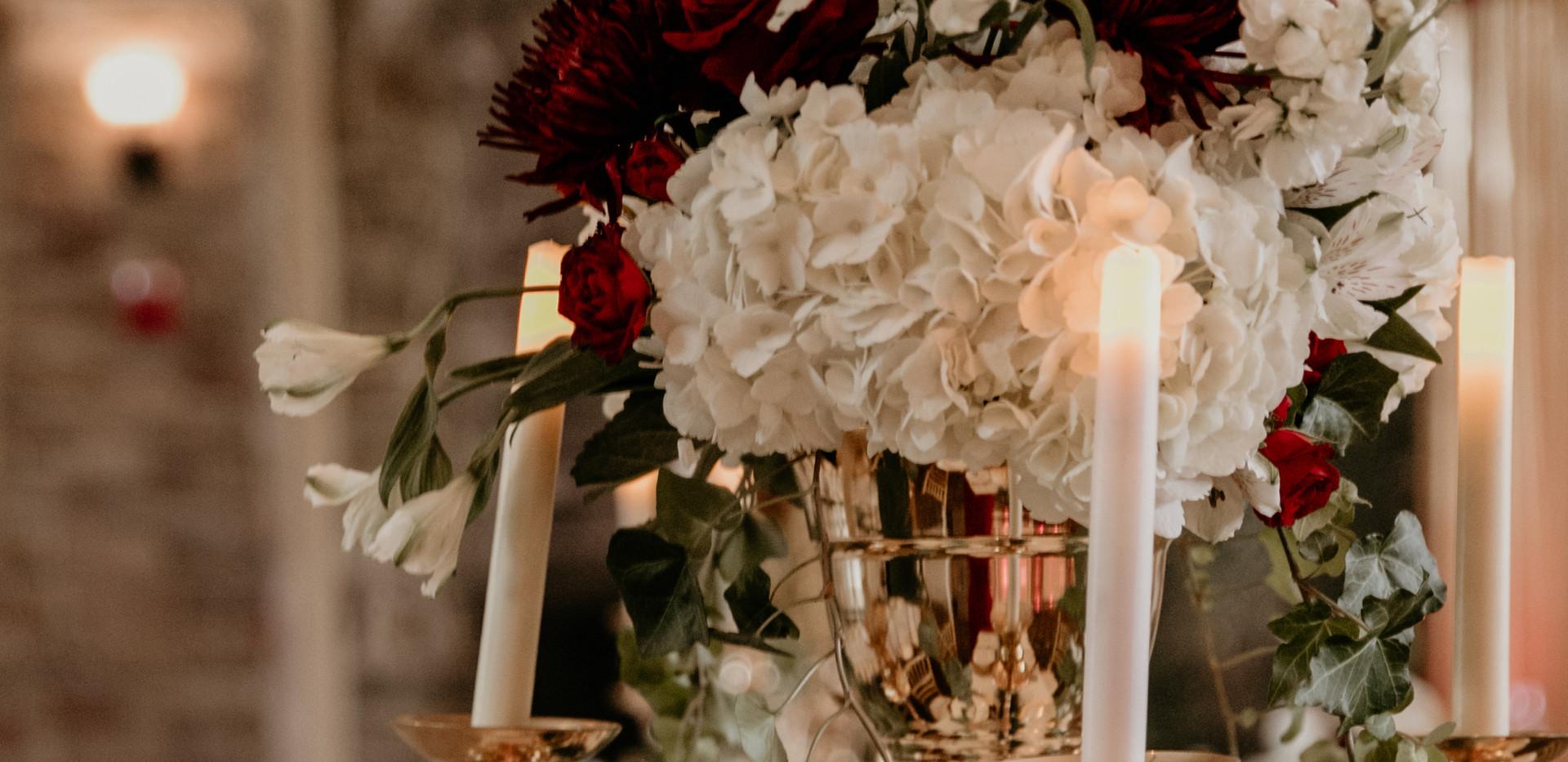 floral centerpiece, table decor