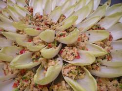 Thai Lemongrass Chicken in Belgian Endive
