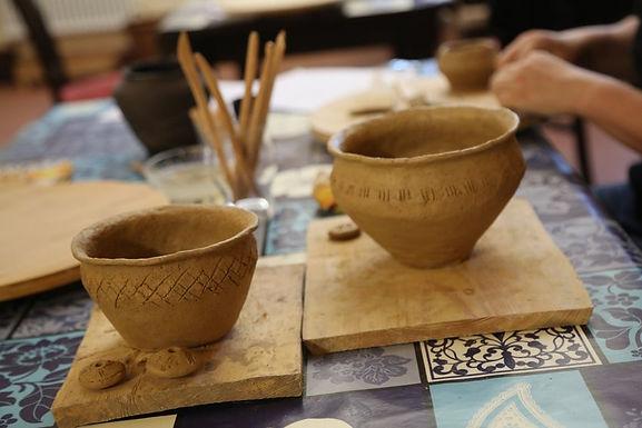 """Workshop """"Die Keramik der Slawen im Mittelalter"""" am 12.10.2019 in Melaune"""