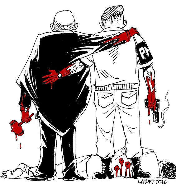 Vignetta di Carlos Latuff