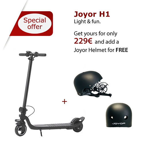 Joyor Electric Scooter H1 + Joyor Helmet