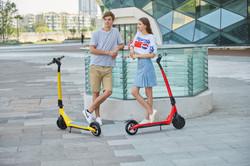 Scooter elétrica joyor a3 a5 amarela e vermelha