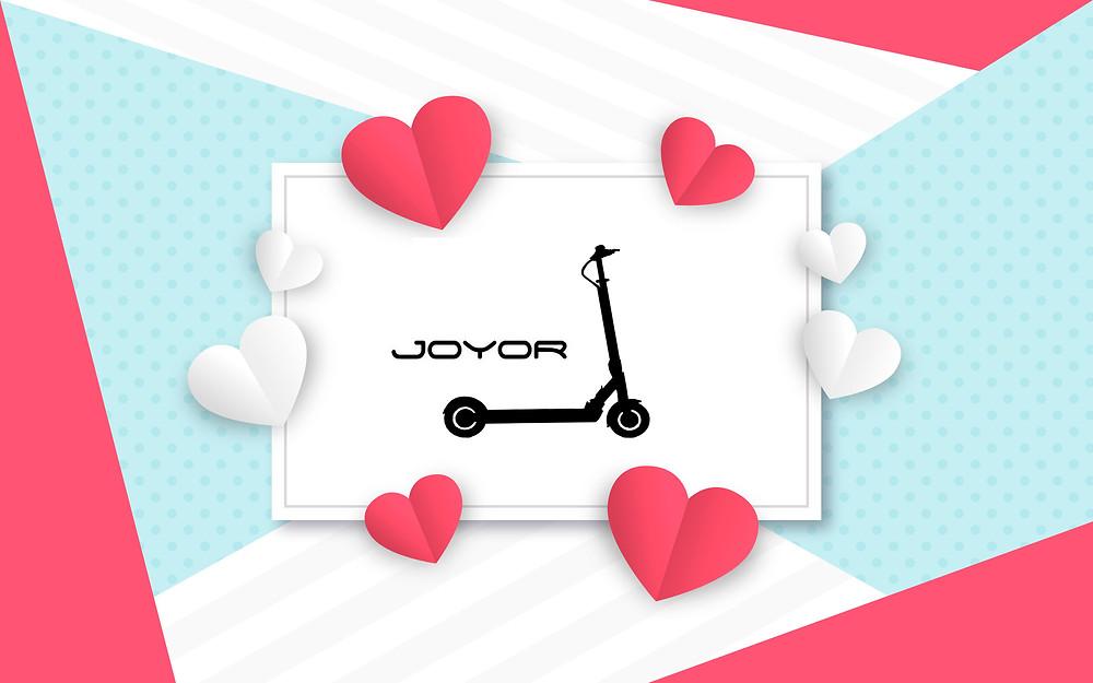 Joyor Electric Scooter St. Valentine's Day