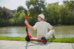 Scooter elétrica joyor a3 a5 vermelha
