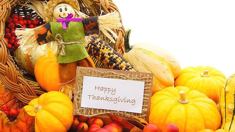 Thanksgiving - No School