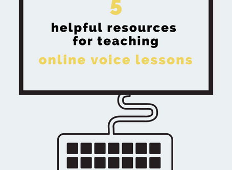 5 helpful resources for teaching online voice lessons