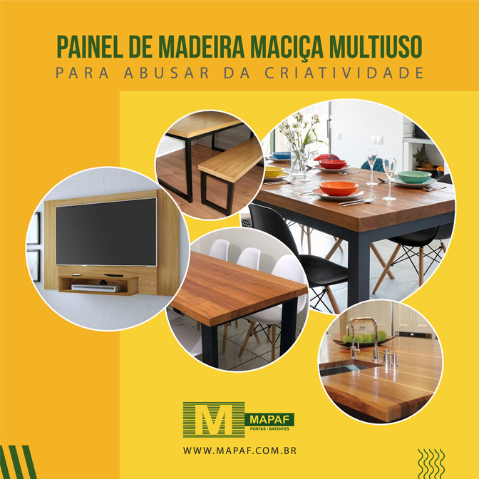 Painéis de Madeira Multiuso  Para usar e abusar da sua criatividade.