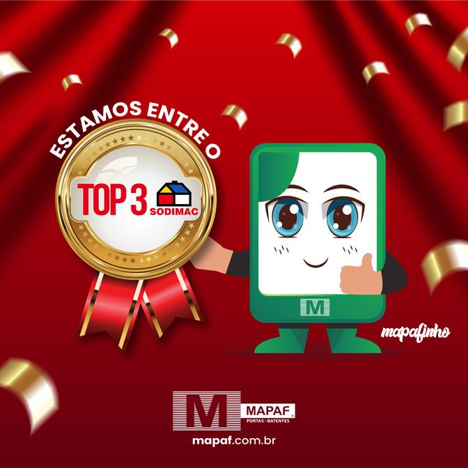 Estamos entre as TOP 3 de vendas na rede SODIMAC!