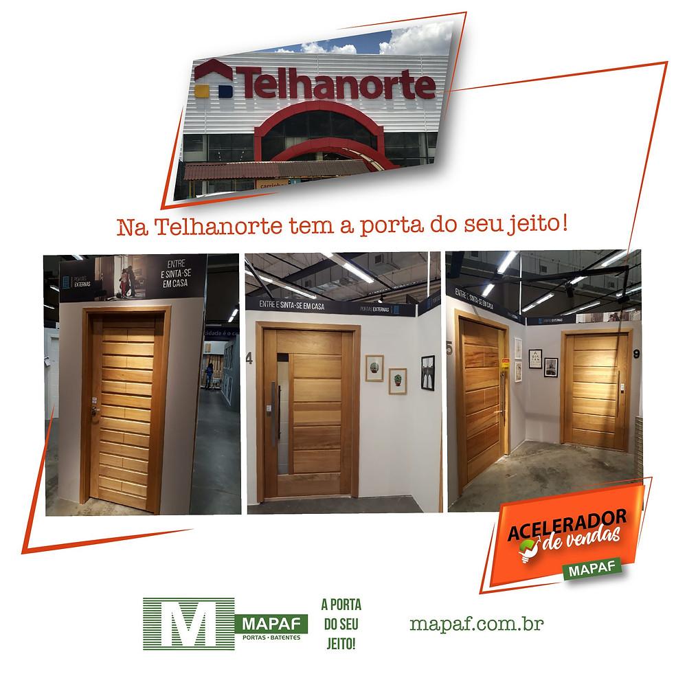 Portas MAPAF na Telhanorte