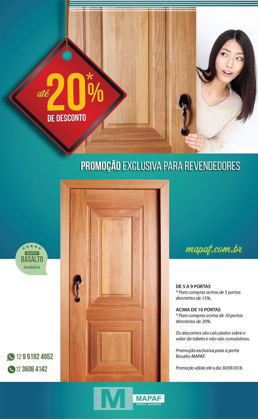 Promoção Porta Basalto MAPAF para revendas!