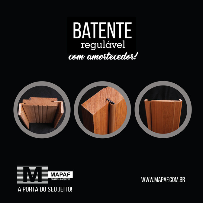BATENTE REGULÁVEL COM AMORTECEDOR