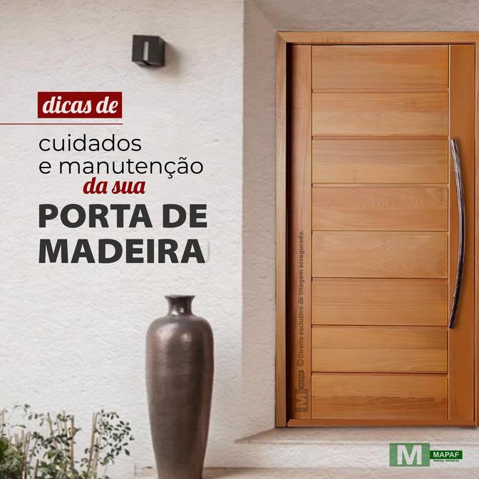 Dicas de Cuidados e Manutenção da sua Porta de Madeira 🔎
