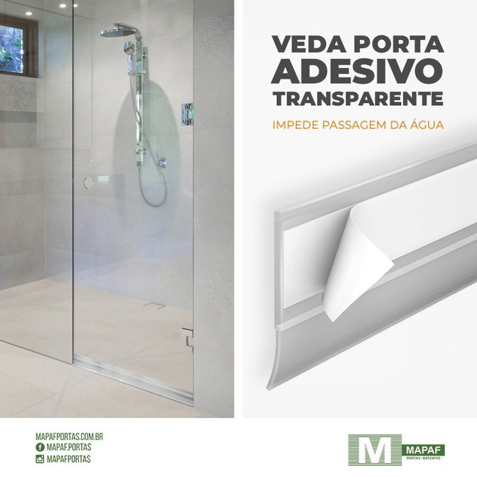 Veda Porta Adesivo Transparente