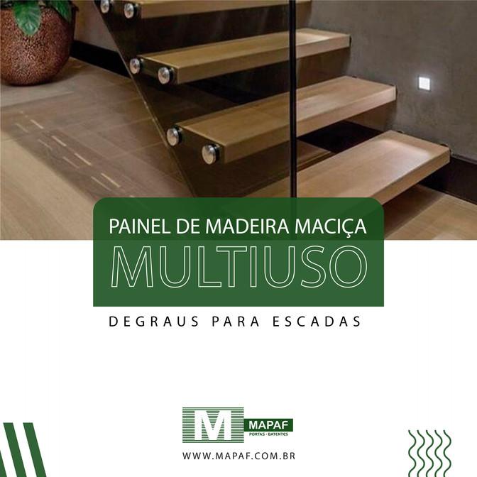 Painéis de Madeira Multiuso | Degraus para escadas