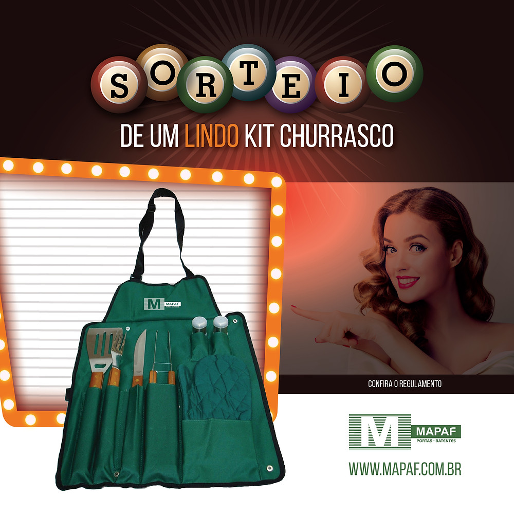 Exclusivo Kit Churrasco MAPAF