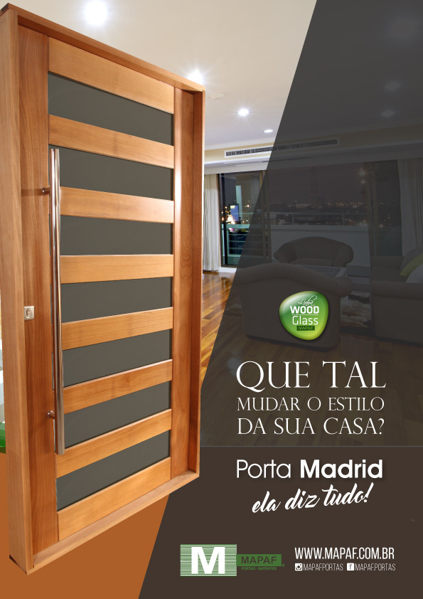Porta Madrid Wood Glass MAPAF