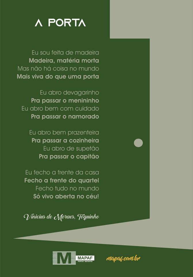 A PORTA | Vinícios de Moraes, Toquinho.