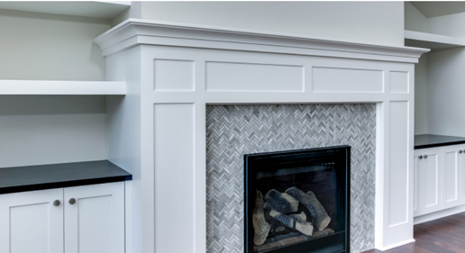 McDonald Tile Fireplace.