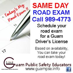 GPSE Road Exam Flyer