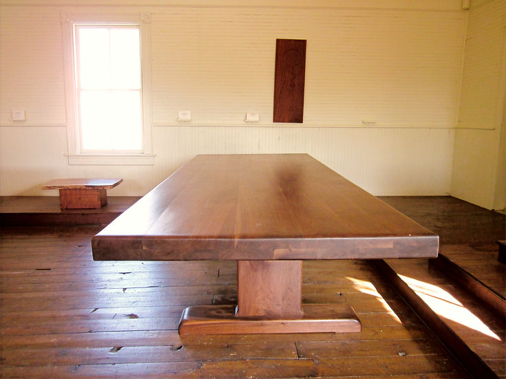 The McClain Dining/Conference Table in Black Walnut
