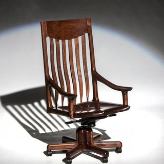 The McClain Executive Swivel Chair in Black Walnut