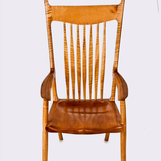 The McClain Casual Chair in Curley Spalted Maple