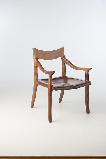 The McClain Low Back Side Chair in Black Walnut