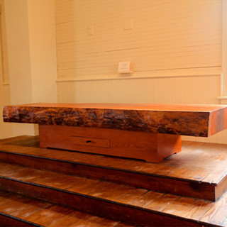 Large Cherry Slab Natural Edge Coffee Table