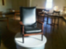 McClain Bolivian Rosewood Morris Chair with Leather Cushions