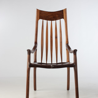 The McClain Canted Back Dining/Conference Chair in Black Walnut