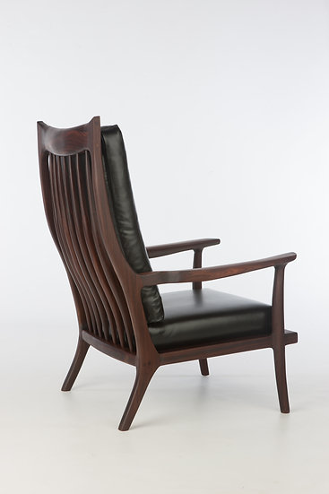 The McClain Bolivian Rosewood Morris Chair with Leather Cushions