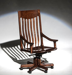 McClain Executive Swivel Chair in Black Walnut