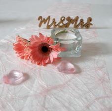 Teelichtglas mit Streudeko