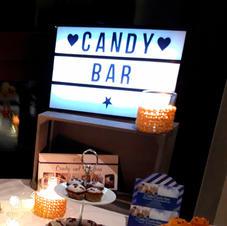 """Leuchtbox """"Candybar und LED-Lichterkette"""