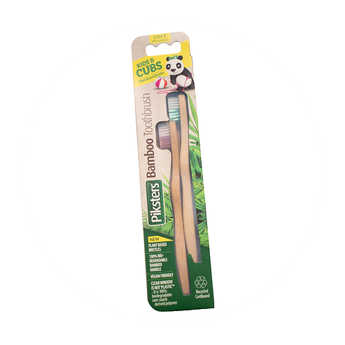 Kids Bamboo Toothbrush 2pk