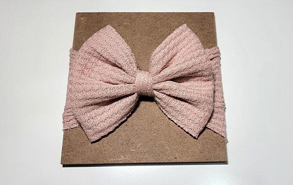 Pink Bow Child Headband