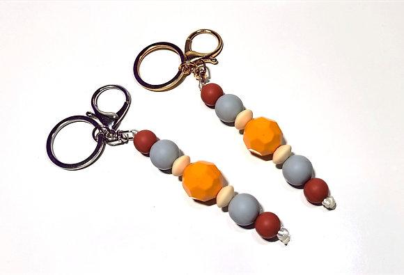 Modern Orange Keychain