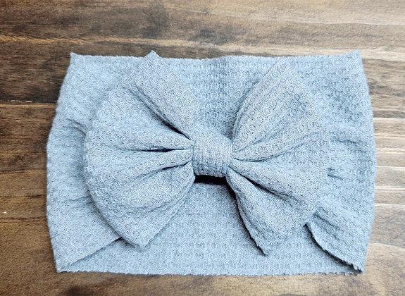 Grey Bow Child Headband
